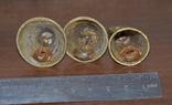 Набор латунных колокольчиков 3шт, фото №4