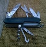 """Нож-""""ЕГЕРЬ""""-Huntsman  black.VICTORINOX.Швейцарский нож.Ніж., фото №6"""