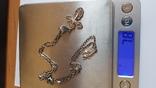 Крестик нательный с цепочкой. Серебро 925. Вес 7.8 г. Длина 50 см., фото №8