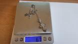 Крестик нательный с цепочкой. Серебро 925. Вес 6.7 г. Длина 50 см., фото №7