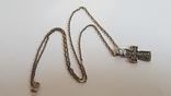 Крестик нательный с цепочкой. Серебро 925. Вес 7.9 г. Длина 50 см., фото №2