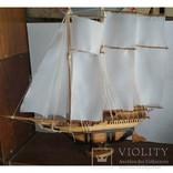 Модель Парусник, корабль, фрегат ручной работы, фото №2