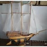 Модель Парусник, корабль, фрегат ручной работы, фото №5