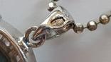 Кулон - бирюза с цепочкой 50 см. Вес 8.1 г., фото №7