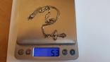 Крестик + цепочка 50 см, серебро 925. Вес 5.40 г., фото №7
