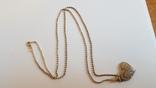Кулон в виде сердца + цепочка 50 см. Серебро 925 проба. Вес 5.3 г., фото №2
