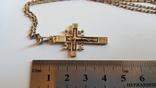 Крестик + цепочка 50 см, серебро 925. Вес 7.3 г., фото №4