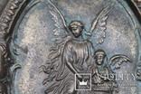 Панно ангелы бронза вес 1.718 кг., фото №4