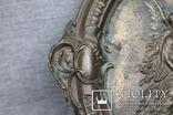 Панно ангелы бронза вес 1.718 кг., фото №7