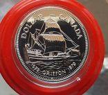 Канада 1 доллар 1979 г. Серебро. 100 лет со дня первого плавания корабля «Гриффон», фото №2