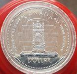 Канада 1 доллар 1977 г. Серебро. Серебряный юбилей правления Королевы Елизаветы II., фото №2