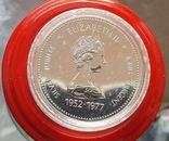 Канада 1 доллар 1977 г. Серебро. Серебряный юбилей правления Королевы Елизаветы II., фото №3