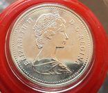 Канада 1 доллар 1989 г. Серебро. Река Маккензи., фото №3