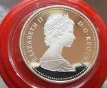 Канада 1 доллар 1989 г. Серебро. 150-летие Торонто. Каноэ. Елизавета II., фото №3