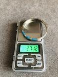 Серебряный Мексиканский браслет с бирюзой (Серебро 925 пр, вес 27 гр), фото №3