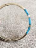 Серебряный Мексиканский браслет с бирюзой (Серебро 925 пр, вес 27 гр), фото №4