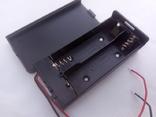 Закрытый батарейный отсек под два элемента 18650 с отключением