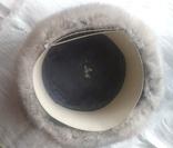 Новая норковая серо-голубая шапка в родной коробке с бирками, фото №5