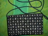 Сумочка бархатная с вышивкой металлической канителью, фото №3