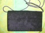 Сумочка бархатная с вышивкой металлической канителью, фото №5