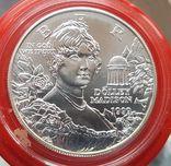 США 1 доллар 1999 г. Серебро. Долли Мэдисон. Дом Монпелье., фото №2