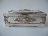 Шкатулка для украшений ( Серебро 800 пр , 560 гр. ) Европа, фото №2