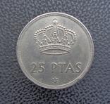 Испания 25 песет 1975, фото №2