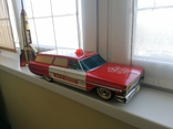 Жестяная игрушка Ford Galaxy 43 см. На батарейках. 60-е годы. Рабочая, фото №2