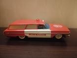 Жестяная игрушка Ford Galaxy 43 см. На батарейках. 60-е годы. Рабочая, фото №5