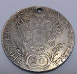Монета 20 крейцеров 1809,Австрия, фото №2