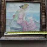 """""""Две дамы"""" см. техн. Ю.М.Злочевский (1922-1988), фото №7"""