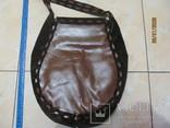 Винтажная кожаная сумка ., фото №4