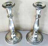 Парные серебряные подсвечники США Конец ХIХ века Серебро 925 пробы, фото №3