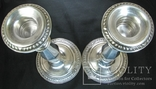 Парные серебряные подсвечники США Конец ХIХ века Серебро 925 пробы, фото №8