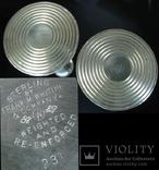 Парные серебряные подсвечники США Конец ХIХ века Серебро 925 пробы, фото №9