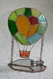 Витраж подсвечник воздушный шар., фото №4