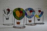 Витраж подсвечник воздушный шар., фото №5