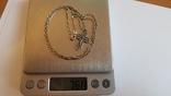 Крестик + цепочка 60 см, серебро 925. Вес 7.55 г., фото №7