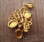Золотой кулон с нефритом и бриллиантами., фото №7