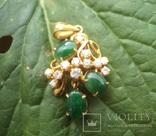 Золотой кулон с нефритом и бриллиантами., фото №8