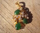 Золотой кулон с нефритом и бриллиантами., фото №9