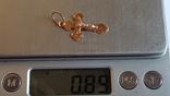 Крестик нательный. Золото 585 проба. Вес 0.89 г, фото №8