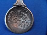 Коллекционная ложка Олово  Клеймо Германия лот 5, фото №12