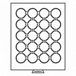 Бокс для монет диаметр ячейки 49 мм, черный Leuchtturm 359445