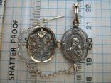 Серебряный Локет Открывающийся Ладанка Богородица Молитва Крест 925 проба Серебро 289 фото 4
