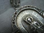 Серебряная Ладанка Святой Георгий Победоносец Большая Иконка 925 проба Серебро 265 фото 2