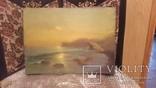 Старая картина Морской пейзаж с подписью автора, фото №2