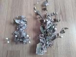 Старинная свадебная пара  цветов., фото №2