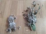 Старинная свадебная пара  цветов., фото №7