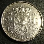 2 1/2 гульдена Нідерланди 1970, фото №2